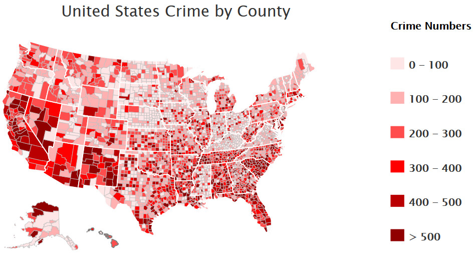 The Most and Least Dangerous Counties in the U.S.
