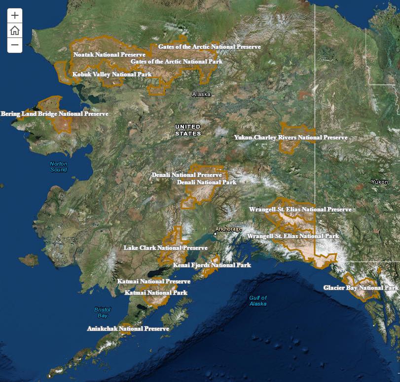 Glaciers in Alaska's National Parks