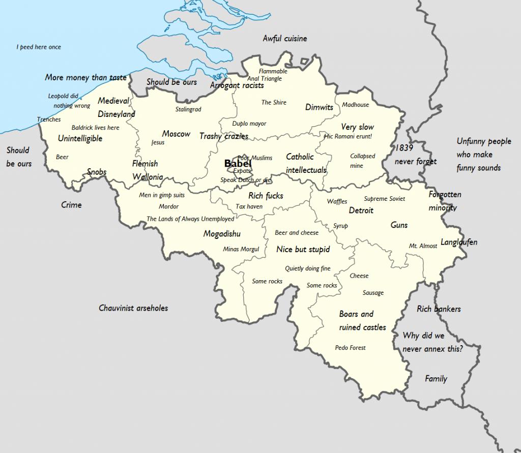 Belgium stereotype map