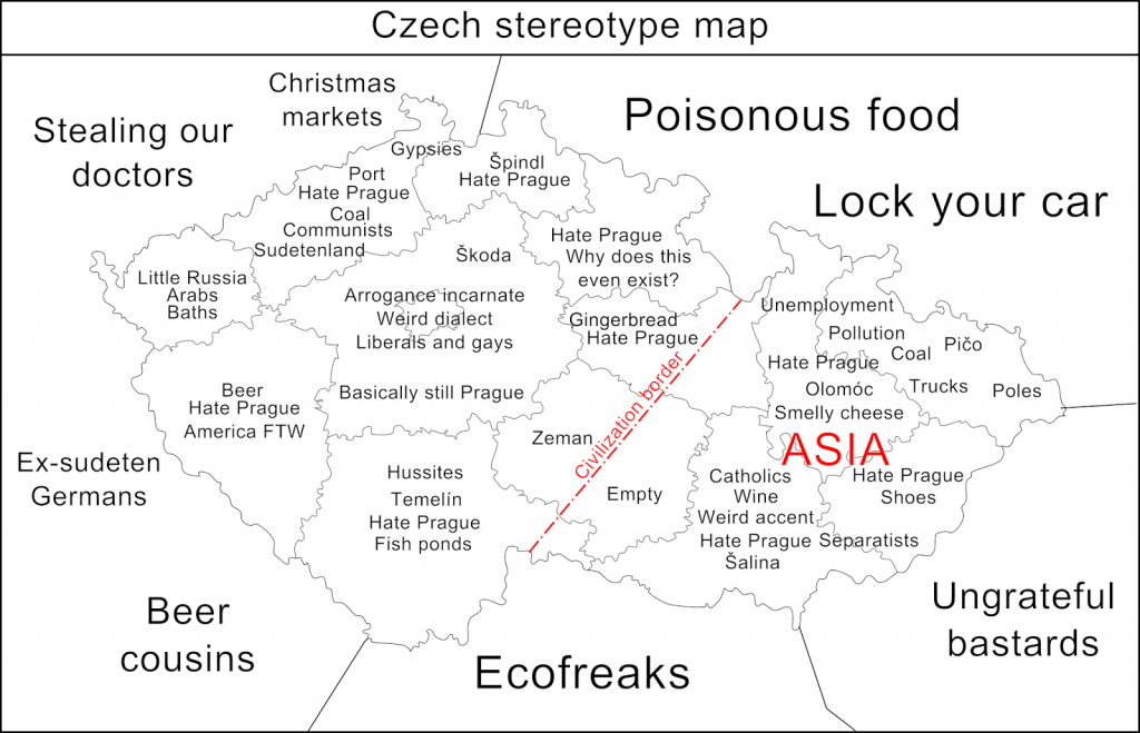 Czech Republic stereotype map