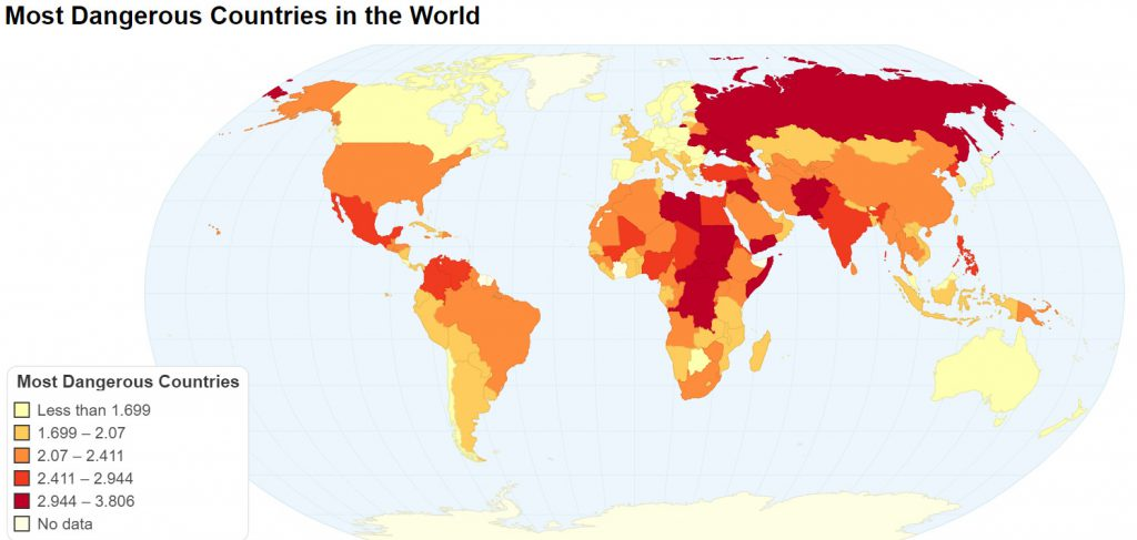 Most Dangerous Countries in the World