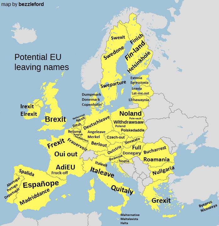 Potential EU leaving names
