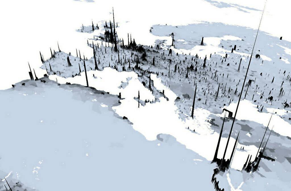 3D Europe population density map