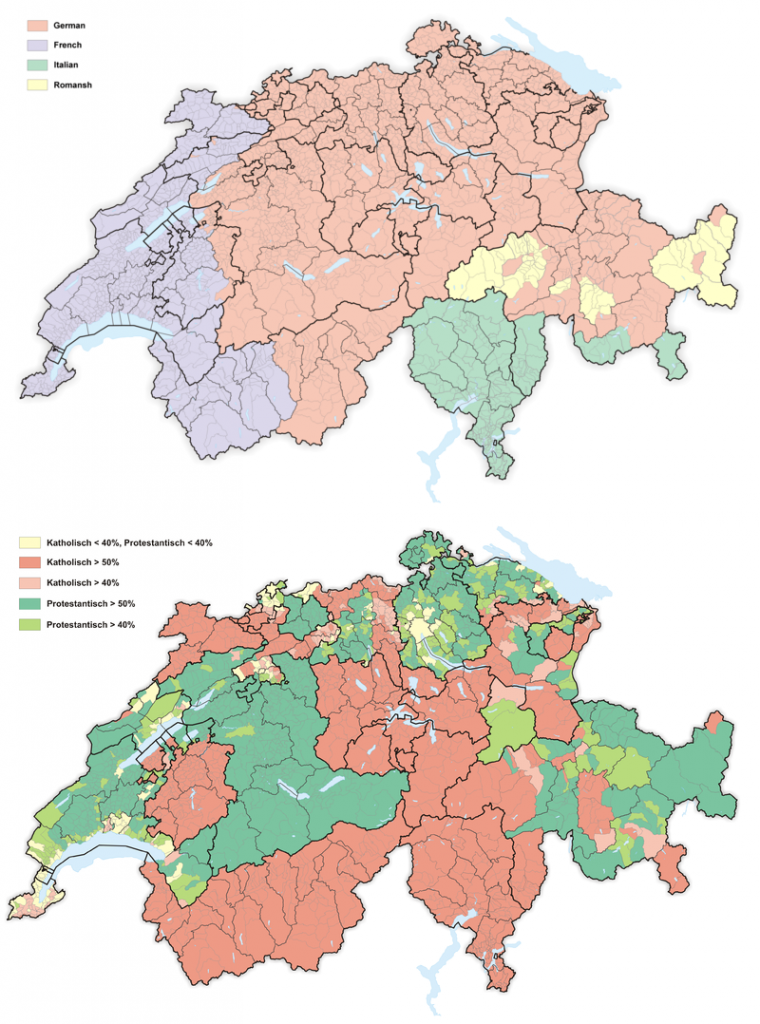 Religion and Language in Switzerland