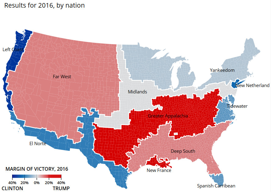 American Nations Applied to the 2016 Election