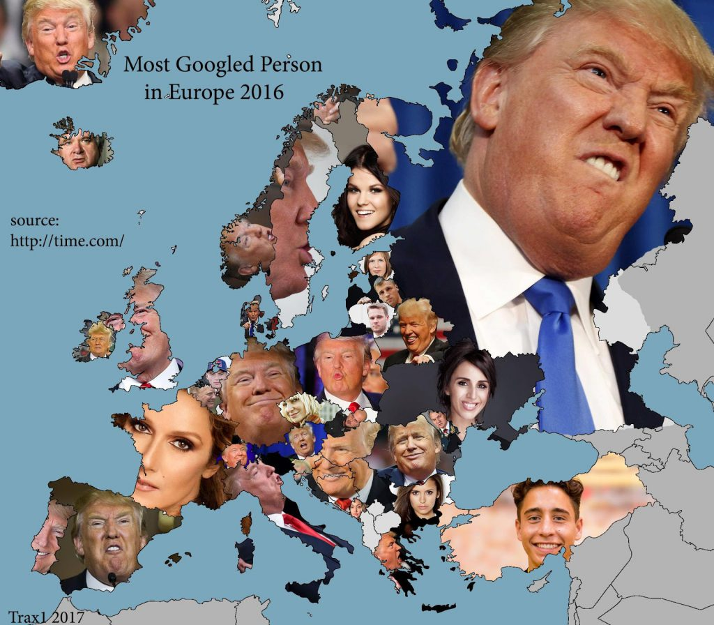 Most Googled person in Europe (2016)