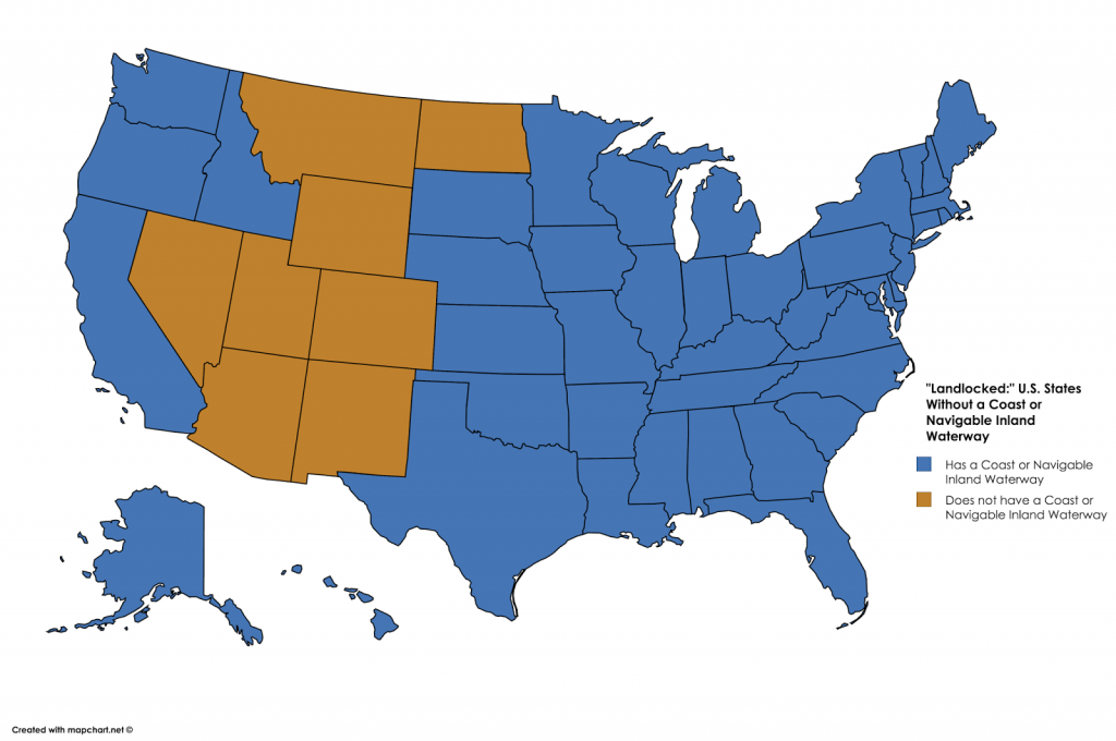 States without a coast or navigable waterway
