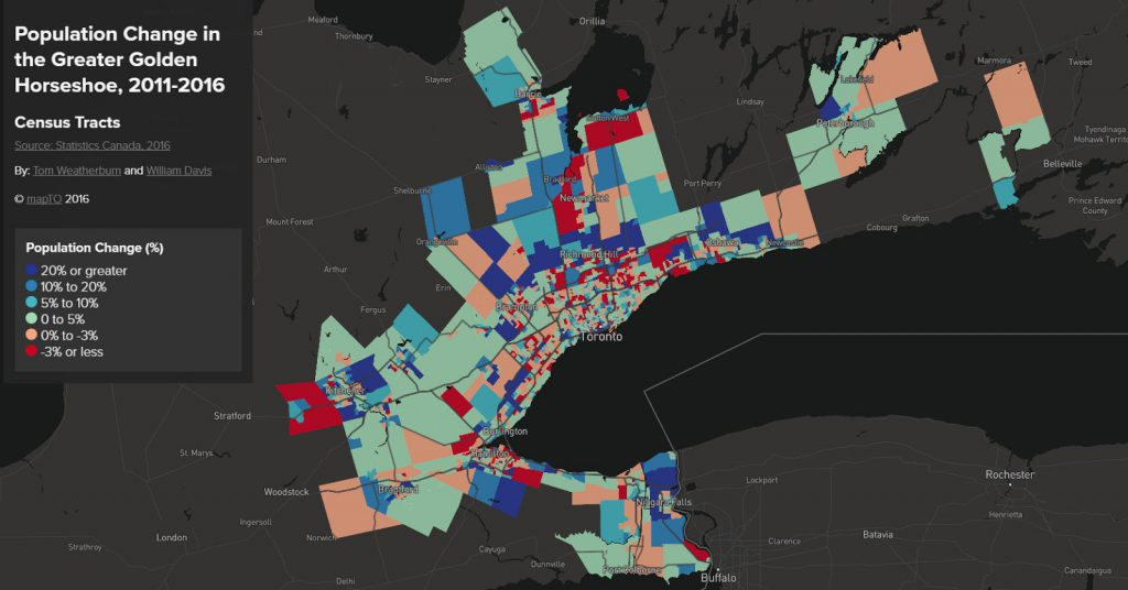 Mapping Canada's Population (2011 - 2016)