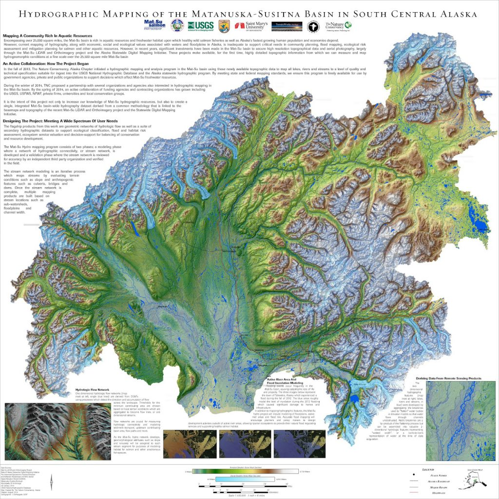 Hydrographic Mapping of the Matanuska-Susitna Basin in South Central Alaska
