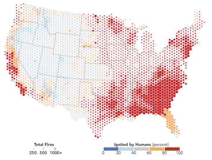 People Cause Most U.S. Wildfires