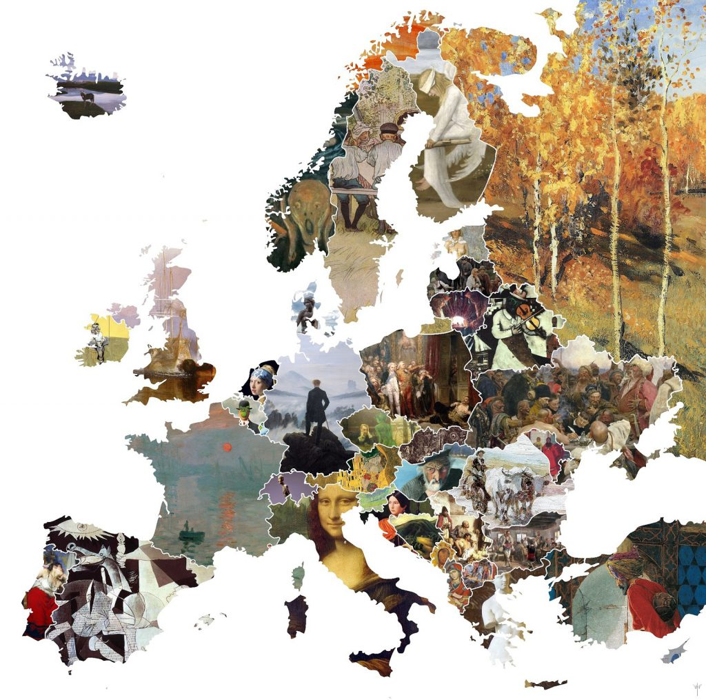 Famous artwork in Europe