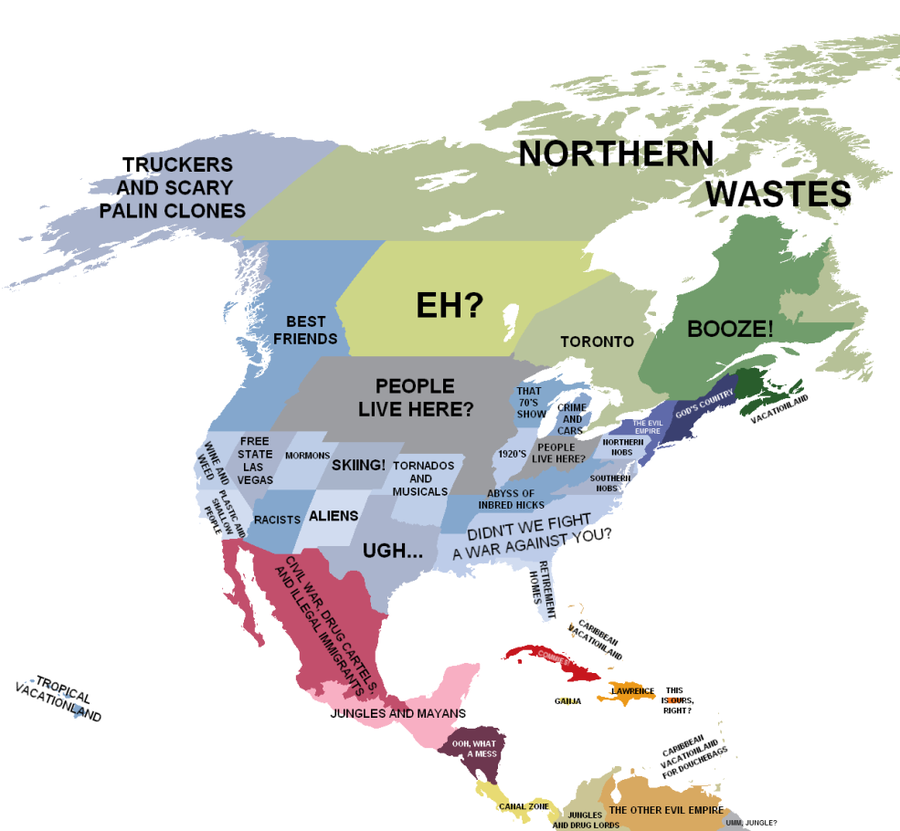 North America according to New England