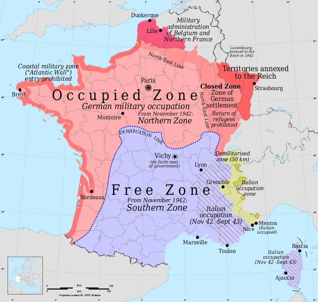 One way to divide France