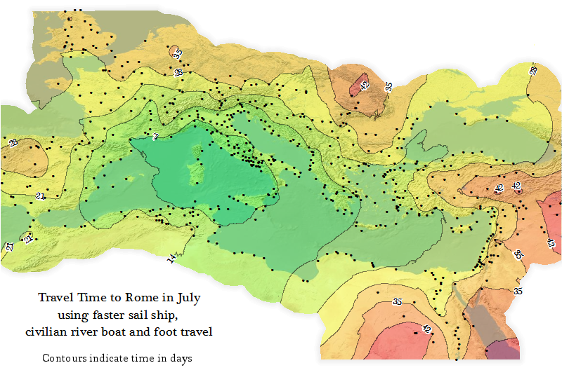 Travel Time to Ancient Rome