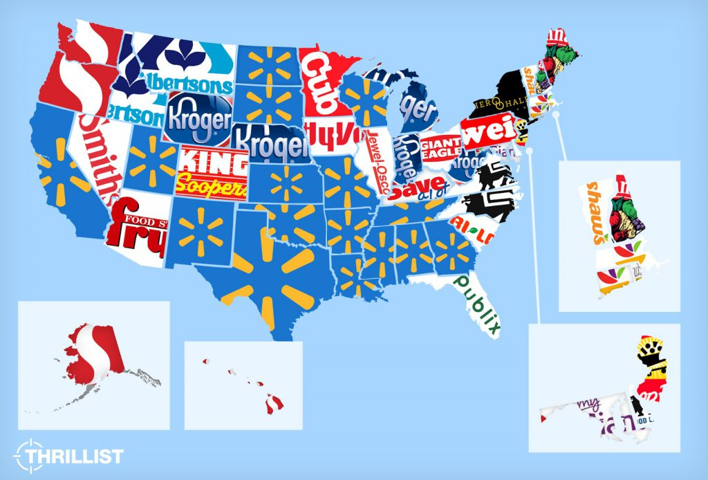 The Most Popular Grocery Store in Every U.S. State