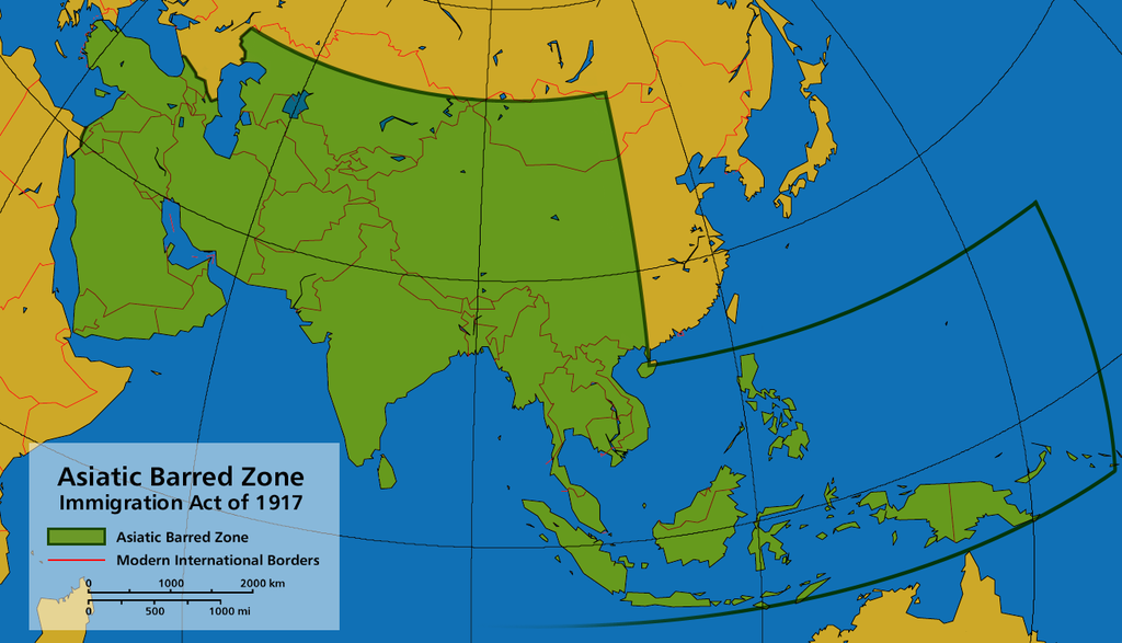 Asiatic Barred Zone Immigration Act of 1917