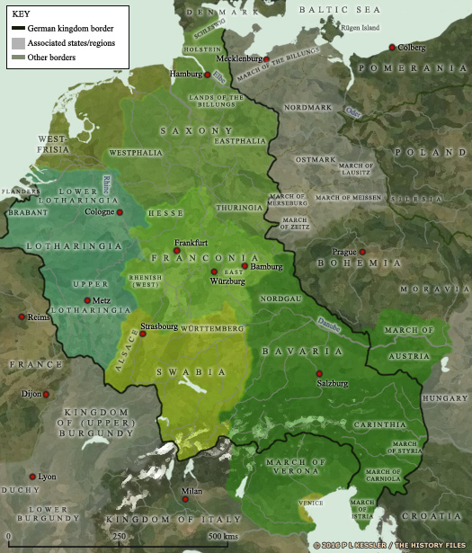 Map of Germany (962 AD)