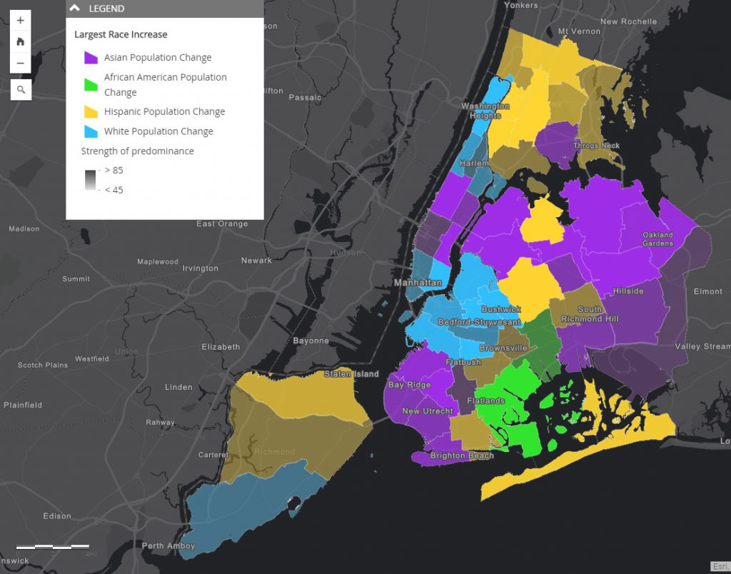 NYC changing racial makeup