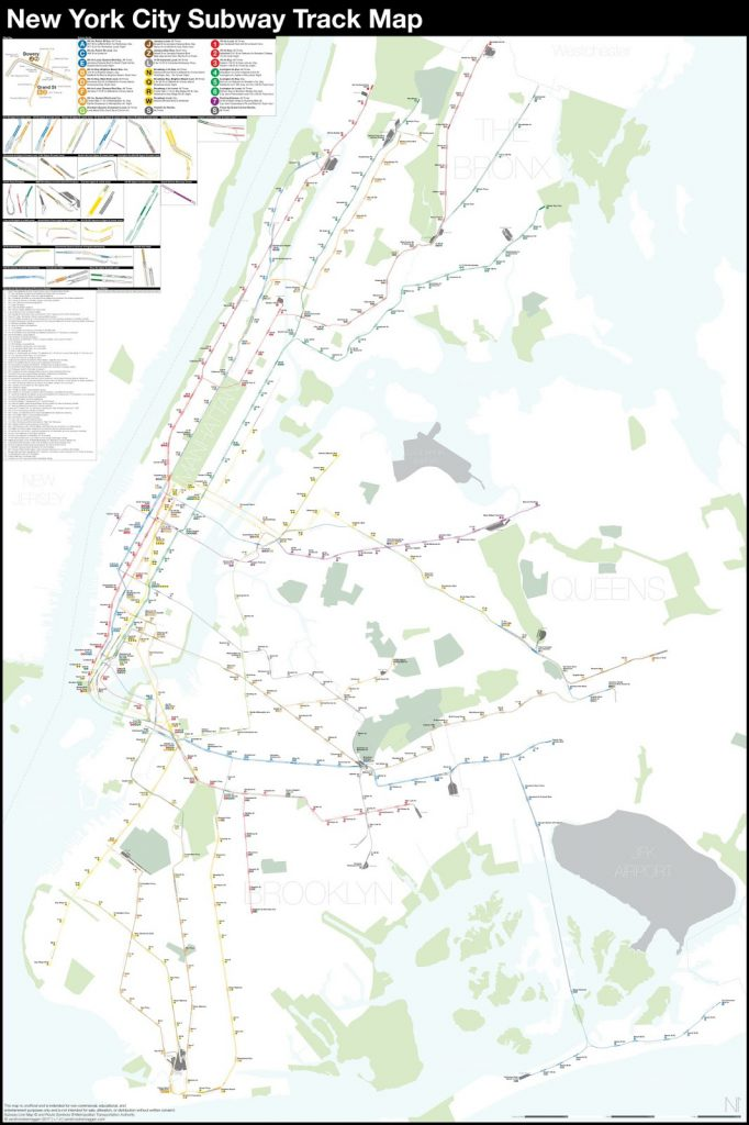 New York City subway track map