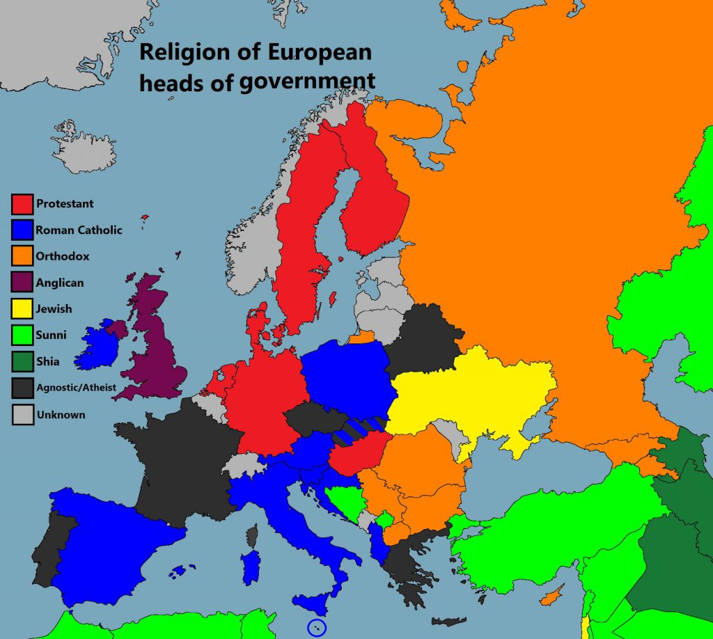 Religion of European heads of government