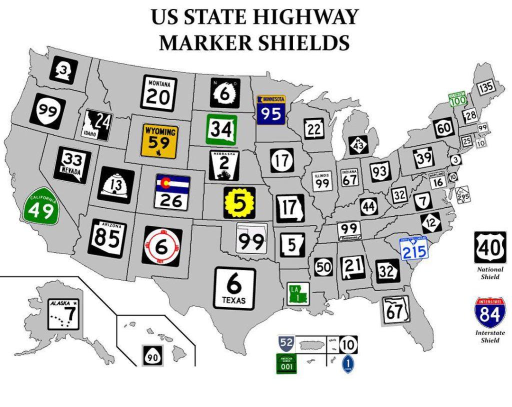 U.S. State Highway Marker Shields