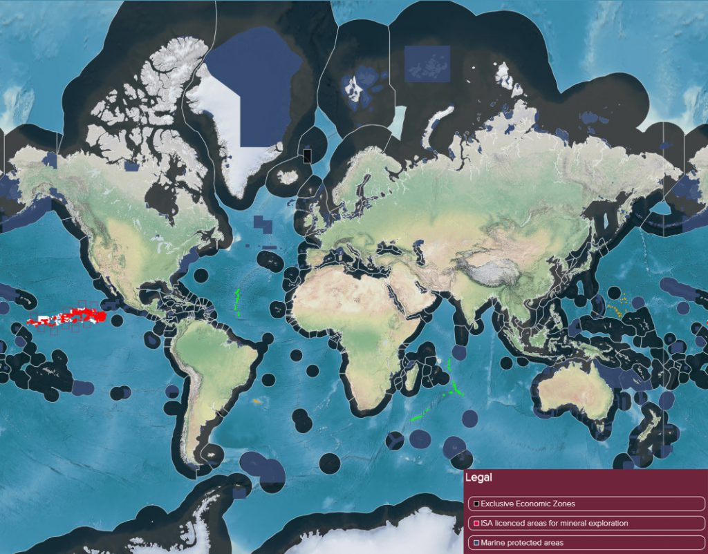 Future ocean resources map (Legal)