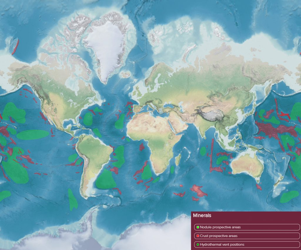 Future ocean resources map (Minerals)