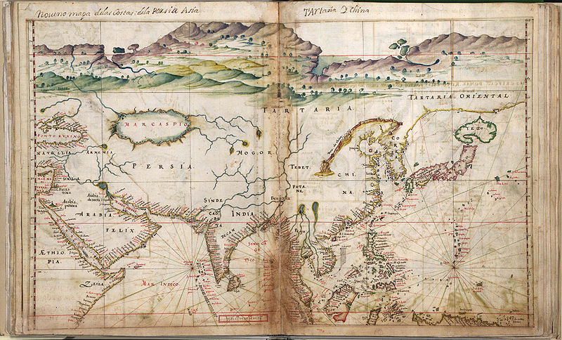 Portuguese Map of Asia from 1630