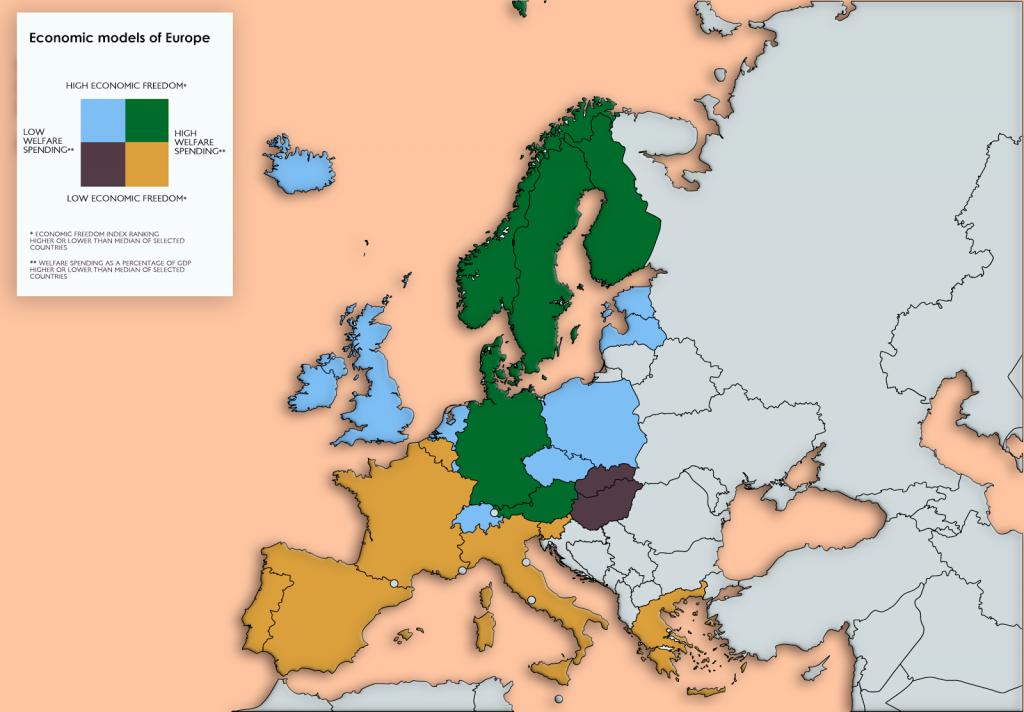 Economic models of Europe