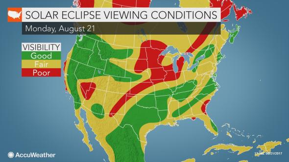 Solar Eclipse viewing conditions