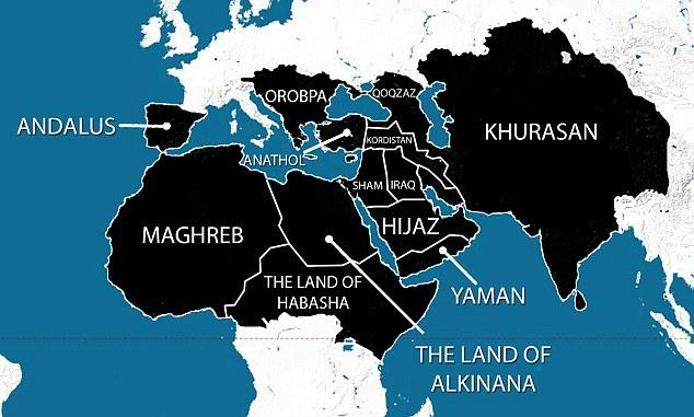 "In 2014 ISIS released this map of their ""5 Year Plan"""