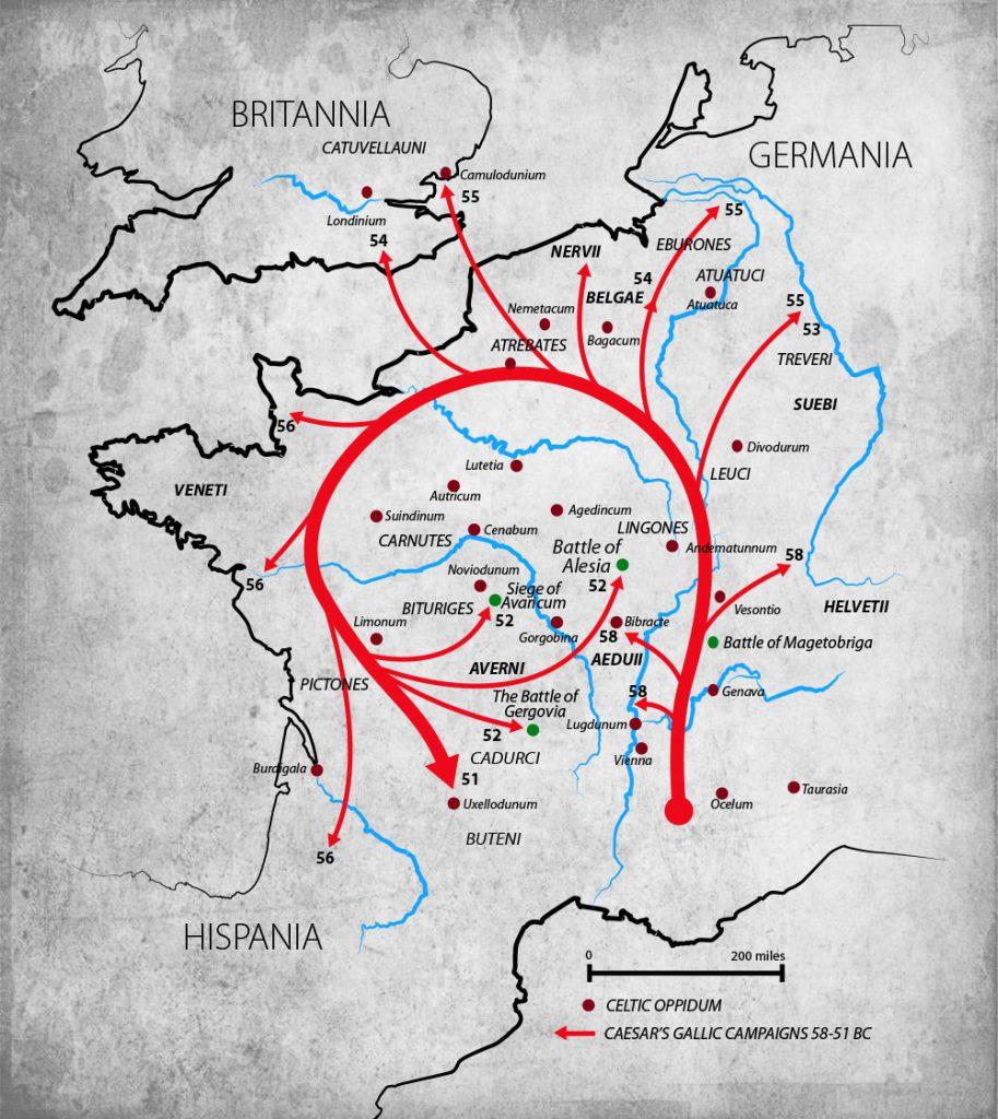 Caesar's Conquest of Gaul - Vivid Maps on julius caesar, dacia map, roman republic, hadrian's wall map, roman legion, numidia on a map, iberian peninsula map, thrace map, england map, sparta map, ancient rome, visigoths map, macedonia map, mark antony, battle of alesia, spain map, huns map, cisalpine gaul, hispania map, iberian peninsula, gallic empire, byzantine empire map, alexandria map, sicily map, gallic wars, greece map, carolingian dynasty, zama map, pyrenees map, decline of the roman empire, constantinople map, athens map,
