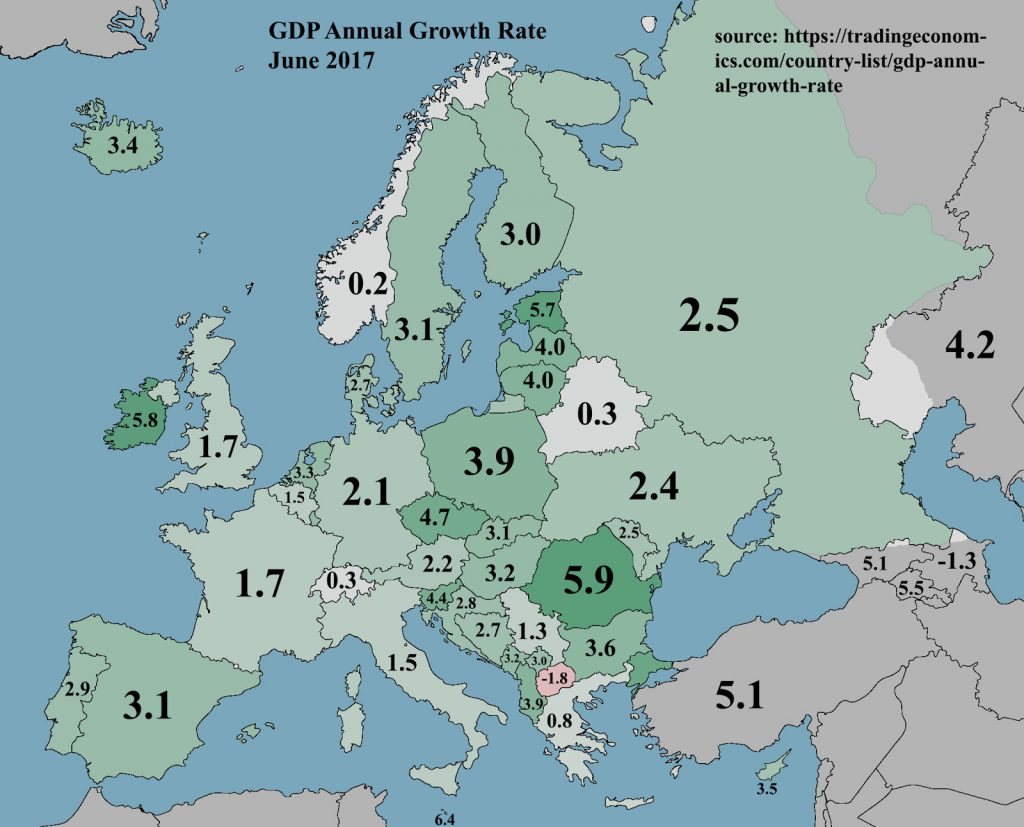 Europe GDP Annual Growth Rate (June 2017)