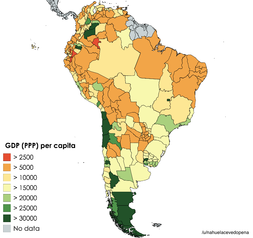 South american national subdivisions by gdp per capita 2017 south american national subdivisions by gdp per capita 2017 vivid maps gumiabroncs Choice Image