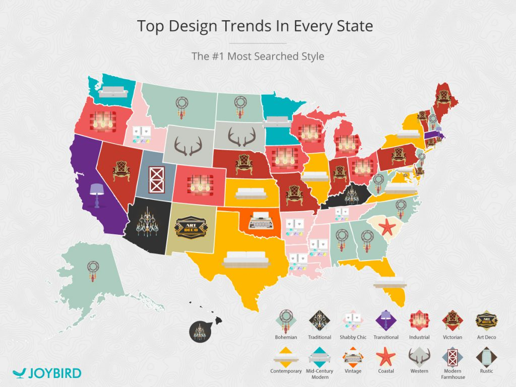 Tod Design Trends in Every U.S. State