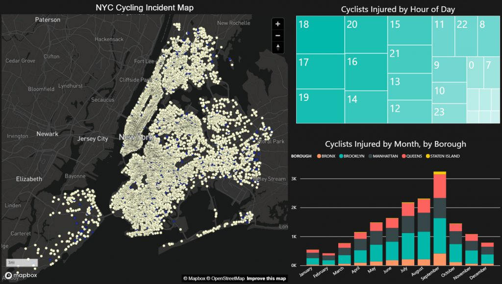 New York City cycling incident map