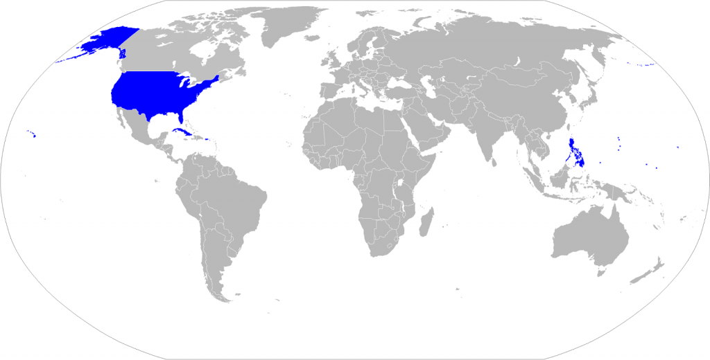 The American Empire at its peak (1902)