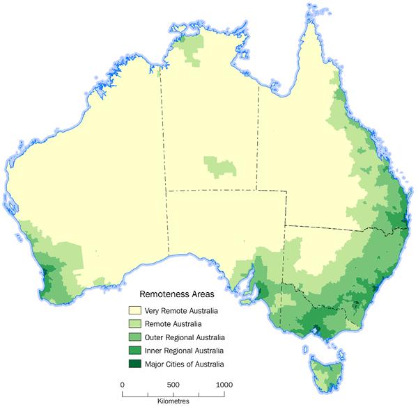 Australia: Remoteness