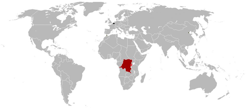 Belgian Empire at its territorial peak