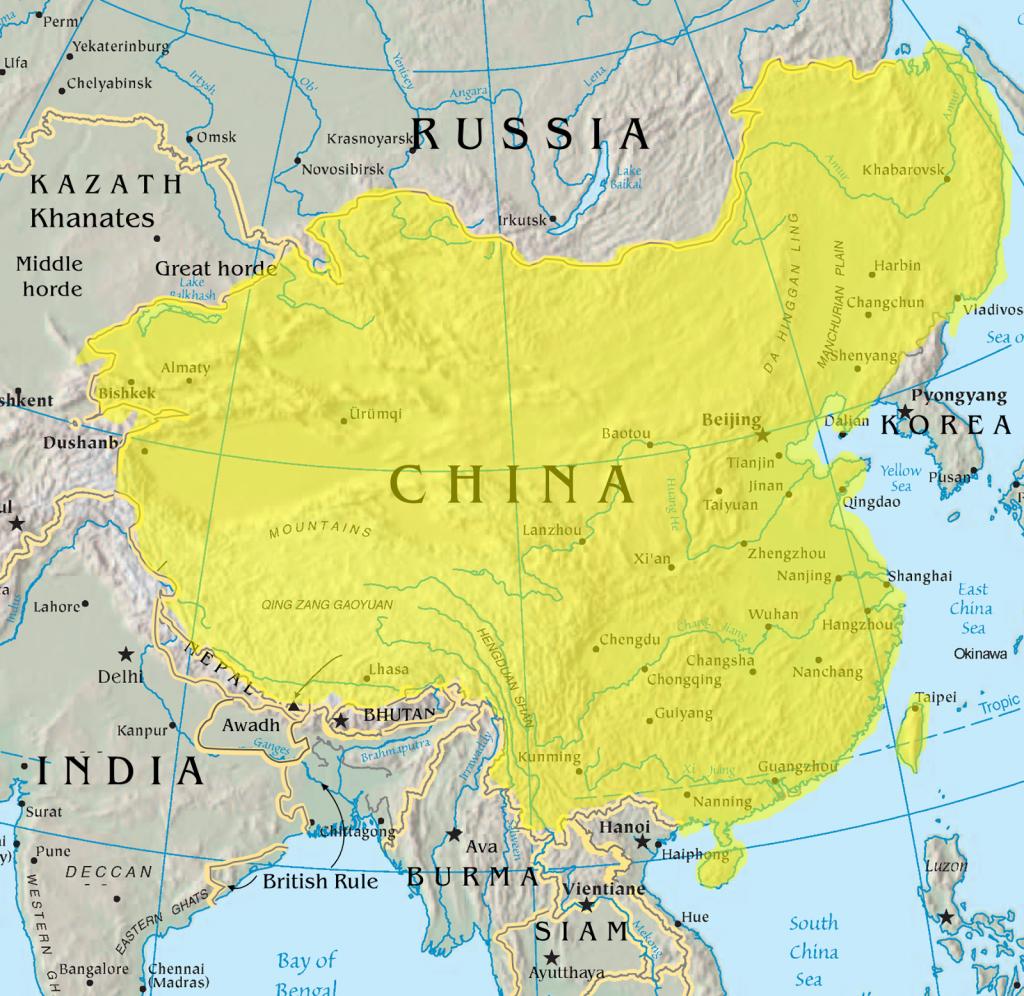 China at its territorial peak (1765)