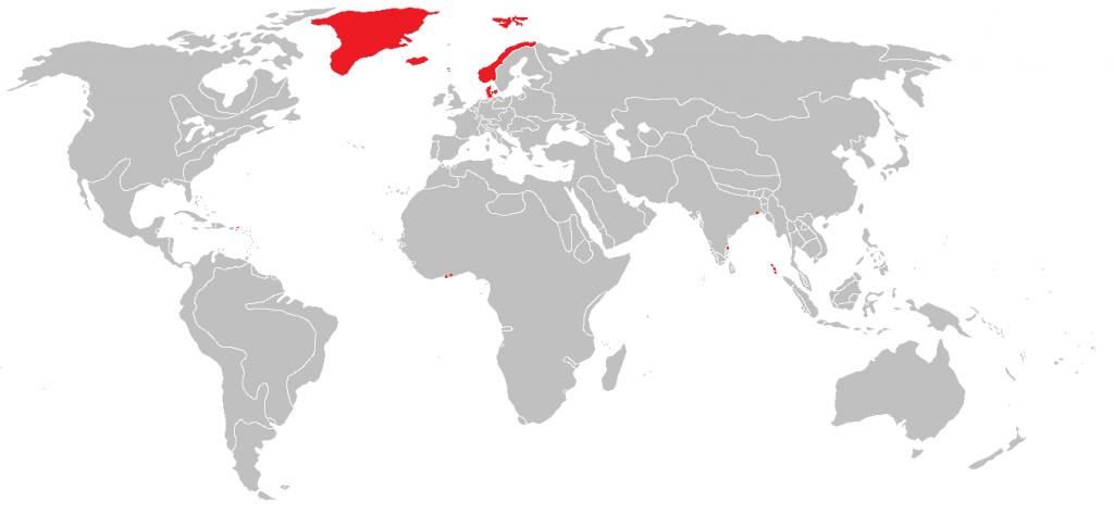 Danish Empire at its territorial peak (1755)