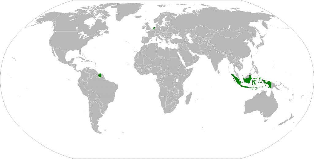 Dutch Empire at its territorial peak (1938)