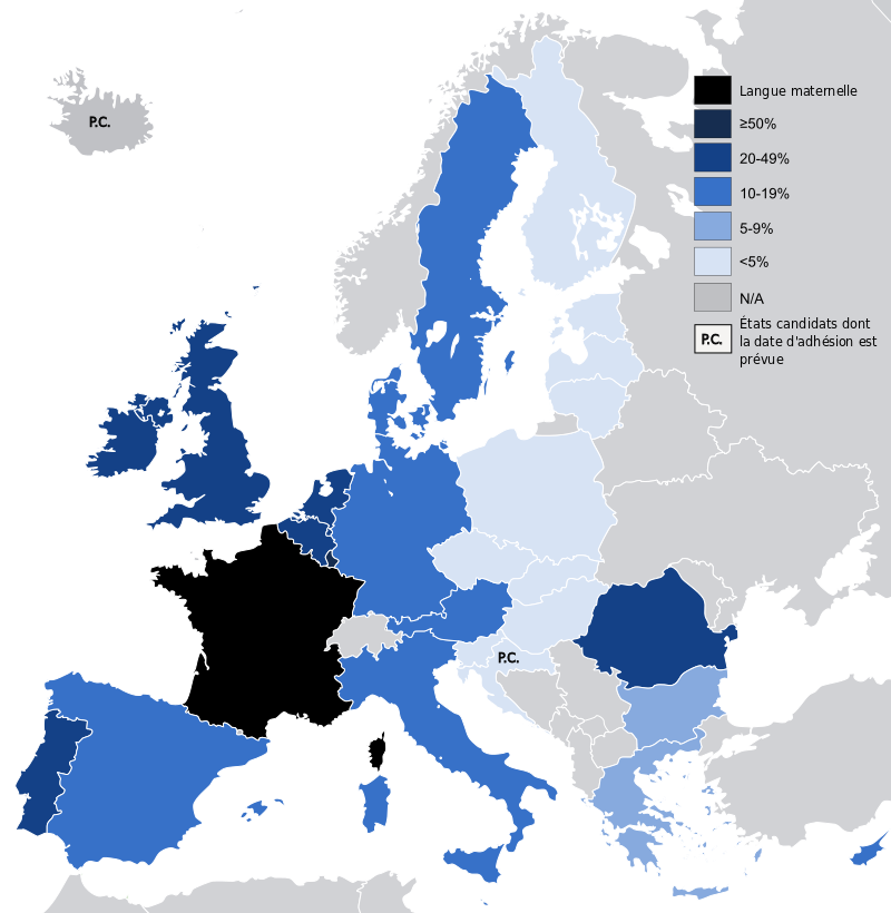 Knowledge of French in the European Union