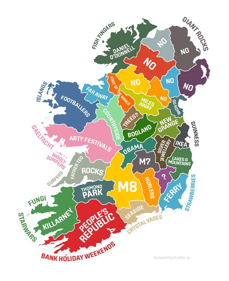Ireland: Stereotypical map
