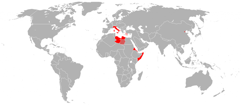 Italian Empire at its territorial (1914)