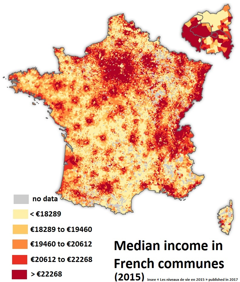 Richest and poorest french communes
