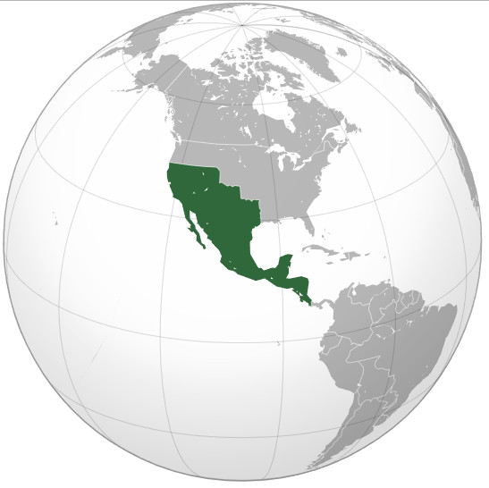 Mexican Empire at its territorial peak (1823)