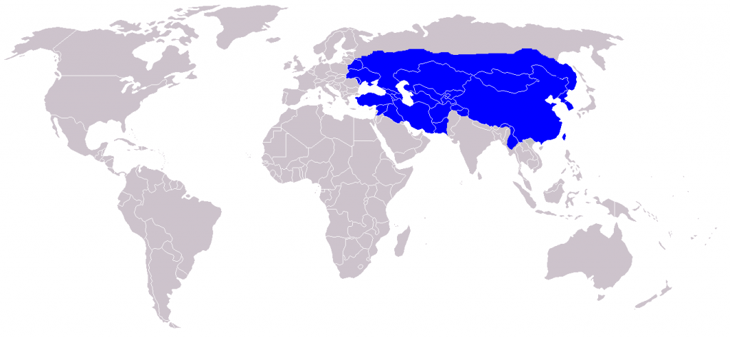 Mongol Empire at its territorial peak (1279)