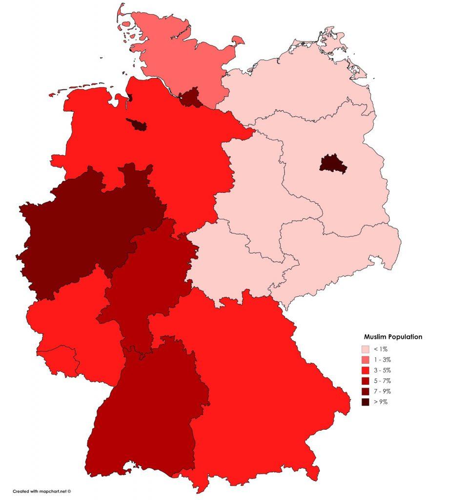 Muslim population in Germany.