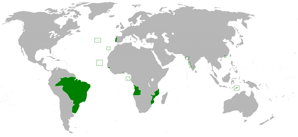 Portuguese Empire at its territorial peak (1801)